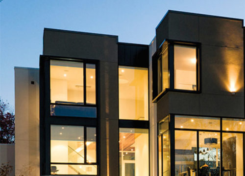 Two exterior styles with sleek lines and narrow profiles